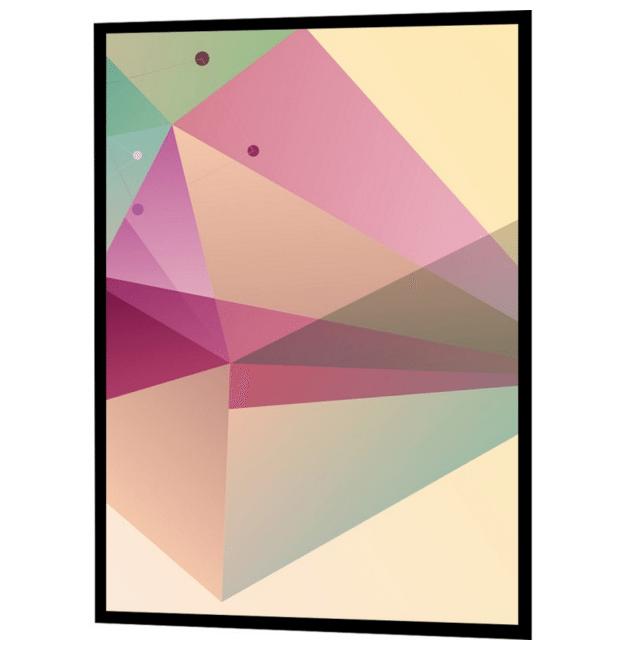 farverig og abstrakt plakat