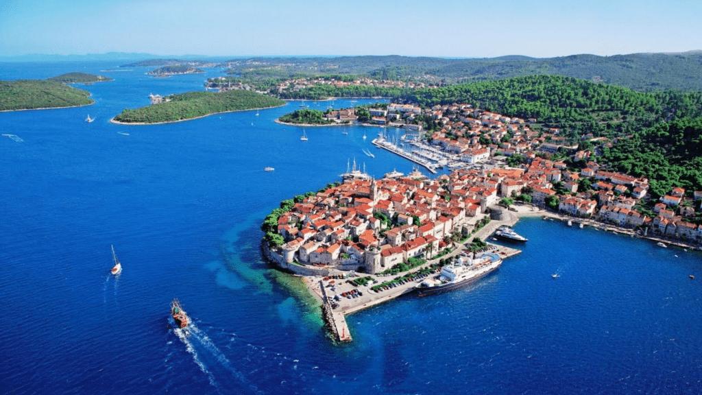 den dalmatiske kyst i kroatien