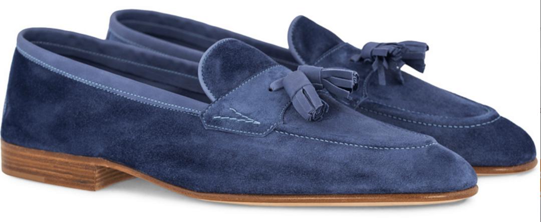 8ec73896ab5e elegante blå edward green loafers - Stay Classy