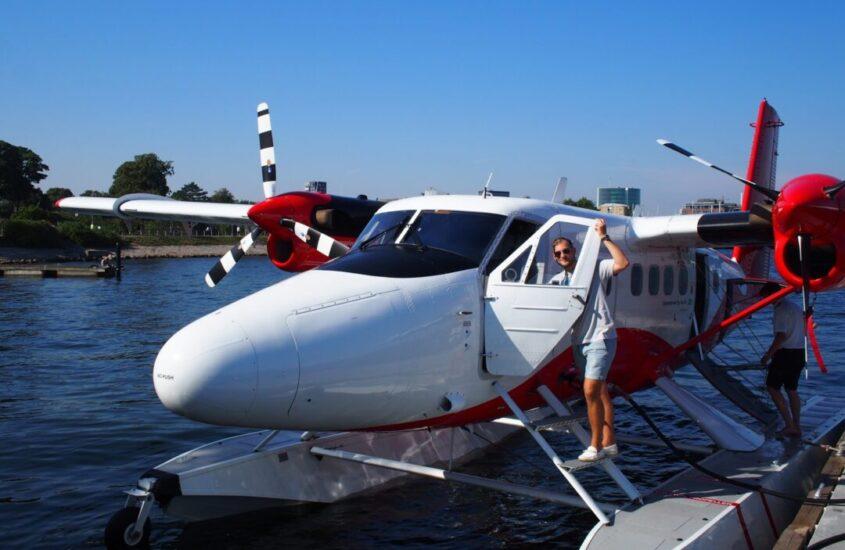 København til Århus med vandflyver