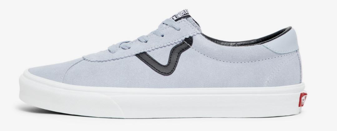 ikoniske vans sko i sort og blå